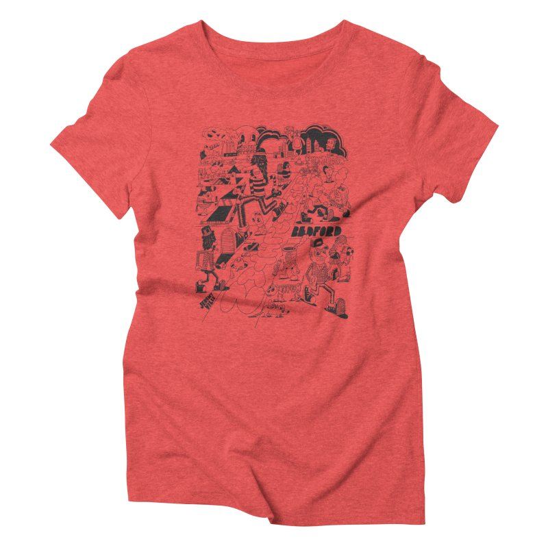 Metropolitan Ave Women's Triblend T-Shirt by Jeremyville