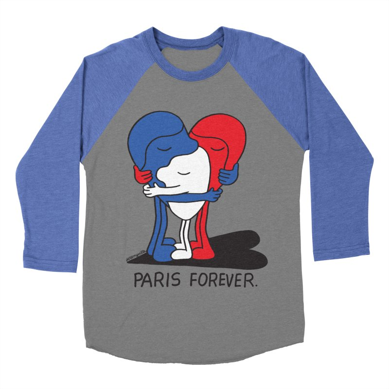 Paris Forever Men's Baseball Triblend T-Shirt by Jeremyville's Artist Shop
