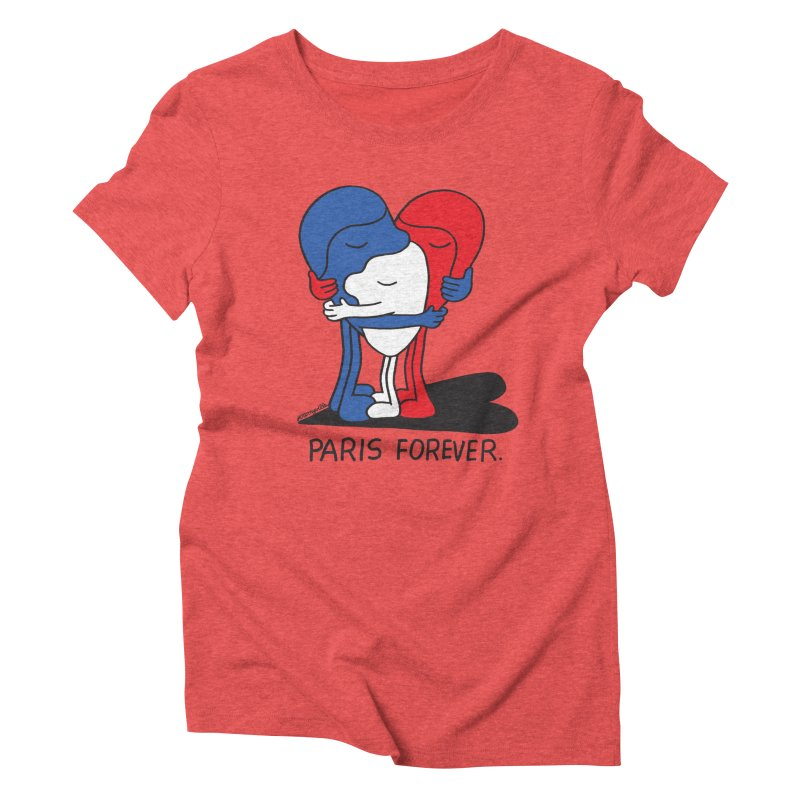 Paris Forever Women's Triblend T-Shirt by Jeremyville