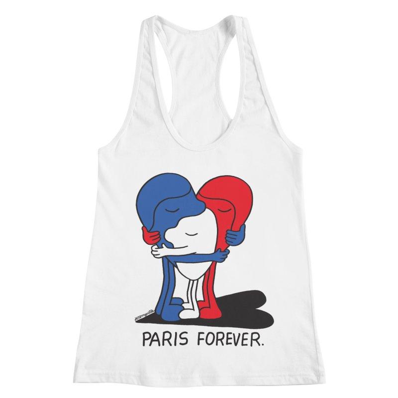 Paris Forever Women's Racerback Tank by Jeremyville