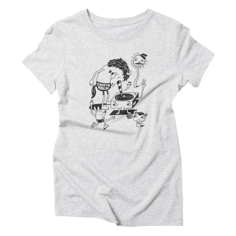 Create Magik BW Women's Triblend T-Shirt by Jeremyville