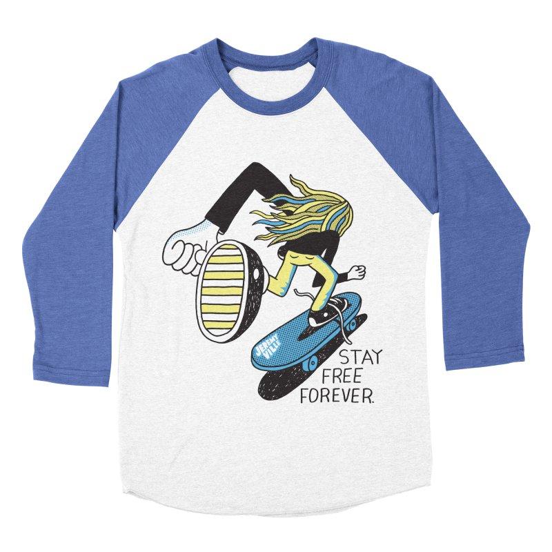 Stay Free Forever Women's Baseball Triblend Longsleeve T-Shirt by Jeremyville's Artist Shop