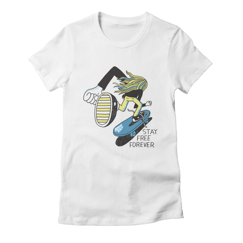 Stay Free Forever Women's Fitted T-Shirt by Jeremyville's Artist Shop