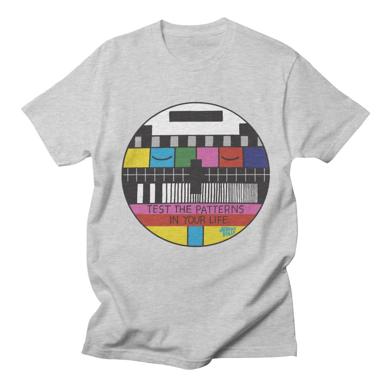 Test the Patterns in Your Life Men's Regular T-Shirt by Jeremyville