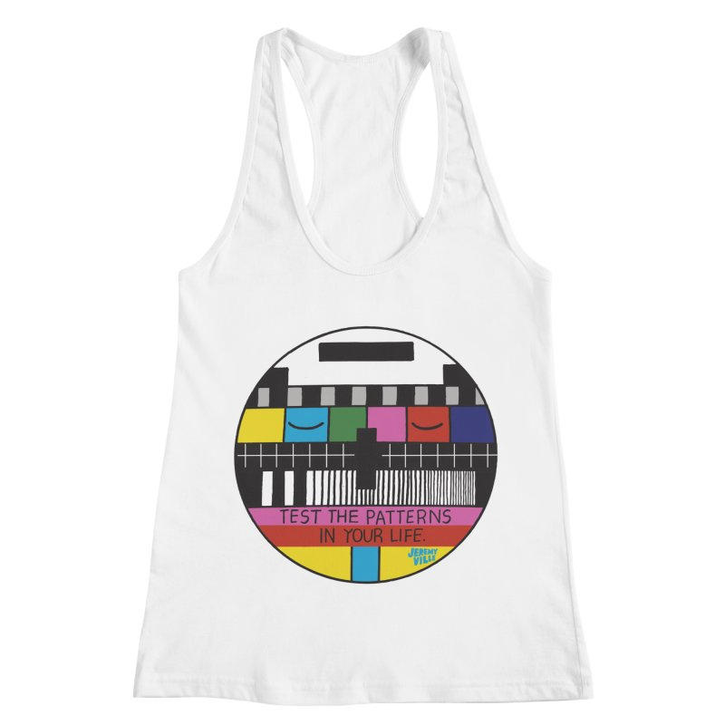 Test the Patterns in Your Life Women's Racerback Tank by Jeremyville