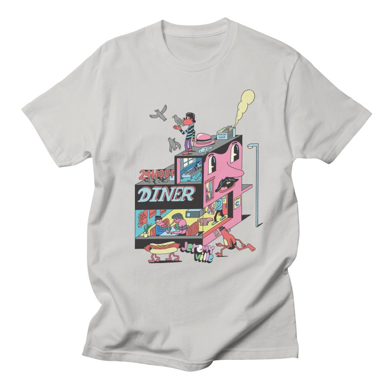 24 Hour Diner Men's Regular T-Shirt by Jeremyville