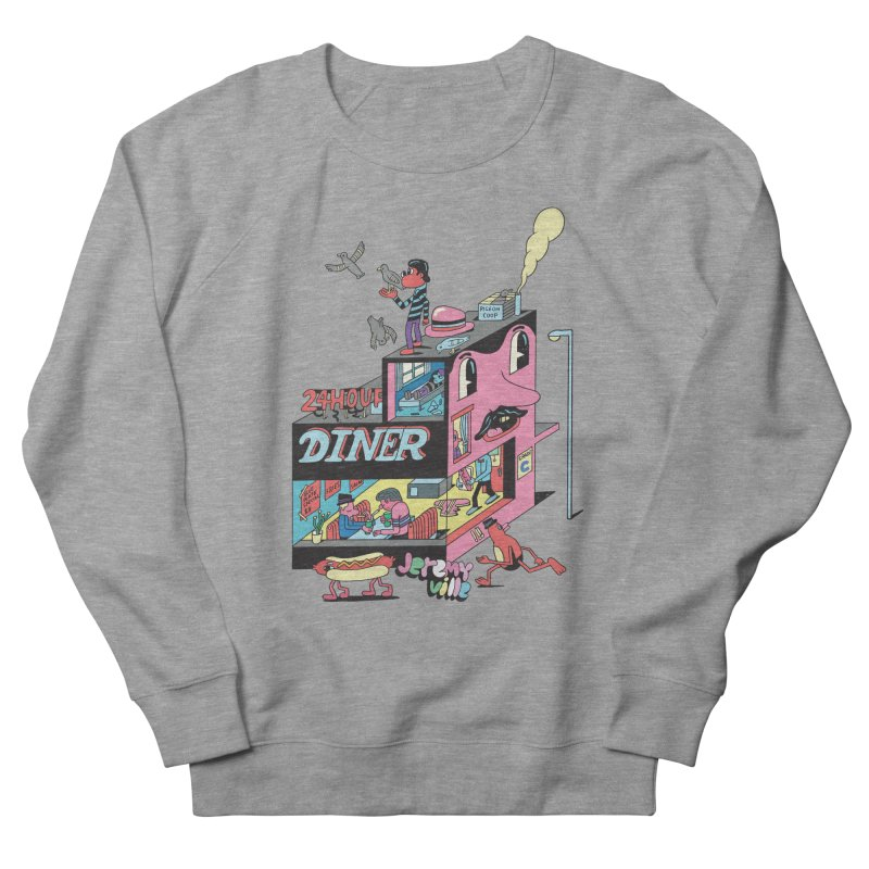24 Hour Diner Men's Sweatshirt by Jeremyville's Artist Shop