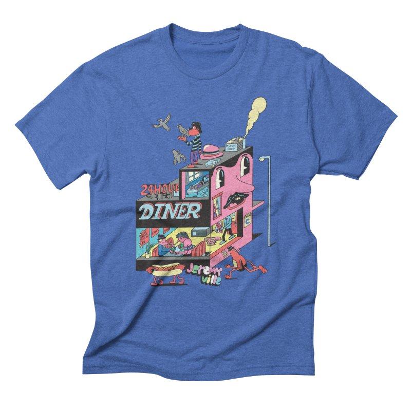 24 Hour Diner Men's Triblend T-shirt by Jeremyville's Artist Shop