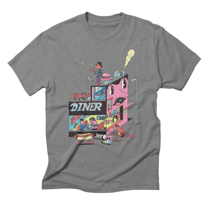 24 Hour Diner Men's Triblend T-Shirt by Jeremyville