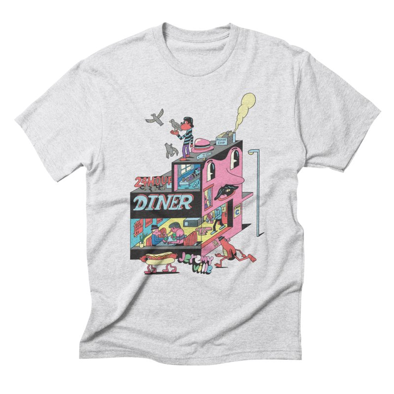 24 Hour Diner Men's Triblend T-Shirt by Jeremyville's Artist Shop