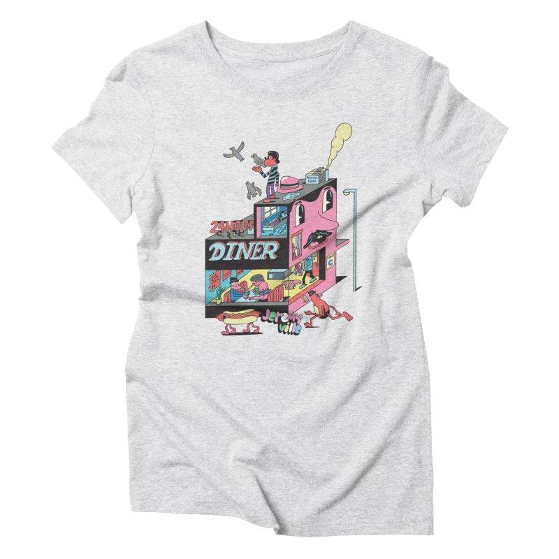 24 Hour Diner Women's Triblend T-shirt by Jeremyville's Artist Shop