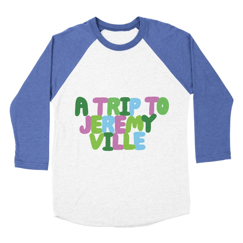 A Trip to Jeremyville Women's Baseball Triblend T-Shirt by Jeremyville's Artist Shop