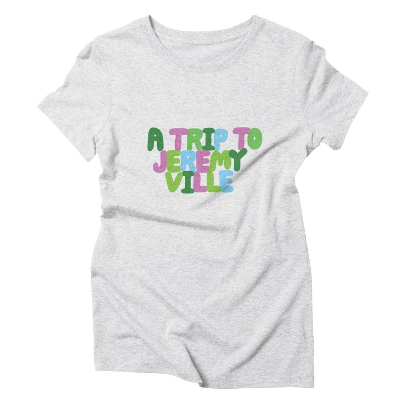 A Trip to Jeremyville Women's Triblend T-Shirt by Jeremyville's Artist Shop