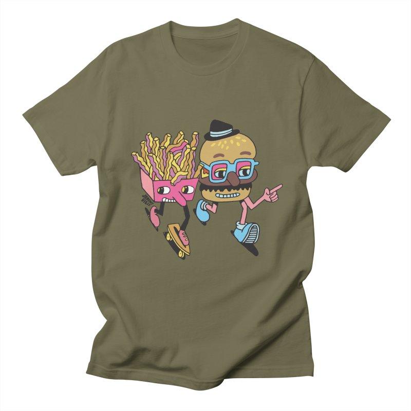 Burger and Fries Men's Regular T-Shirt by Jeremyville