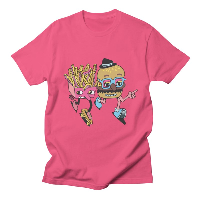 Burger and Fries Men's T-Shirt by Jeremyville's Artist Shop