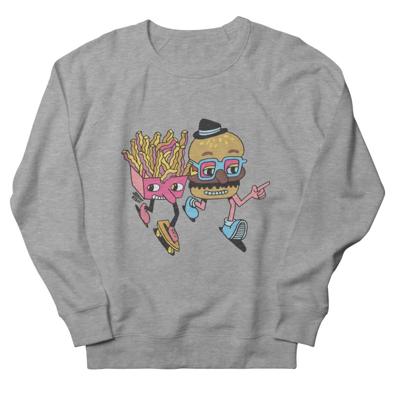 Burger and Fries Men's French Terry Sweatshirt by Jeremyville's Artist Shop