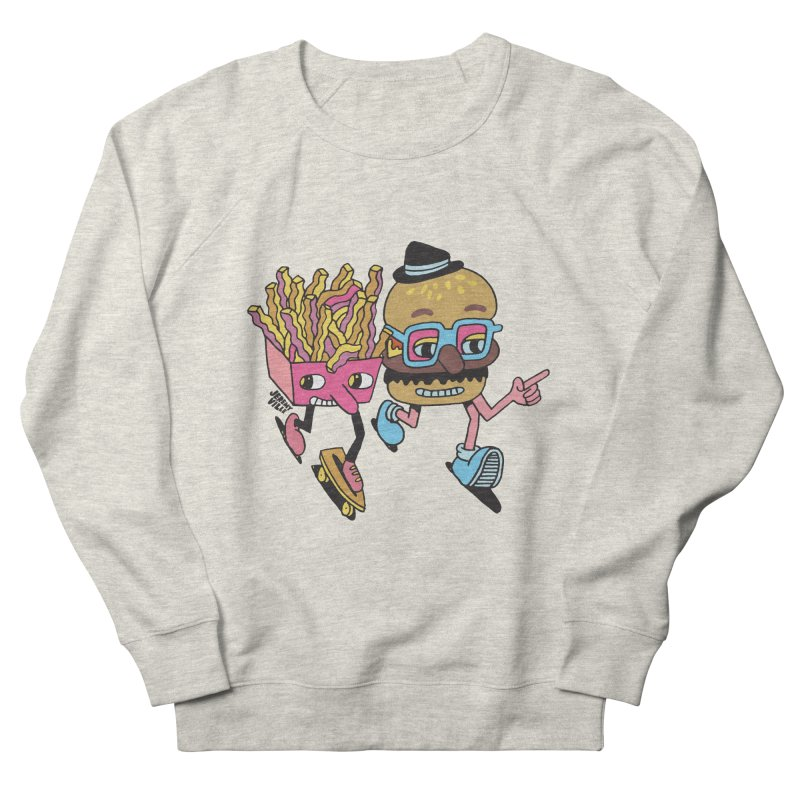 Burger and Fries Men's French Terry Sweatshirt by Jeremyville