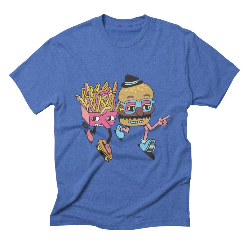 Burger and Fries Men's Triblend T-Shirt by Jeremyville's Artist Shop