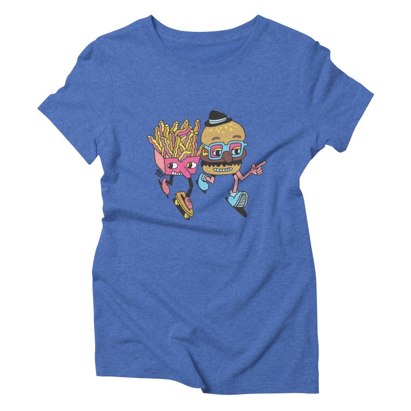 Burger and Fries Women's Triblend T-Shirt by Jeremyville