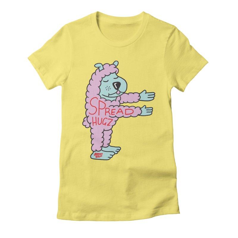 Spread Hugz Women's Fitted T-Shirt by Jeremyville