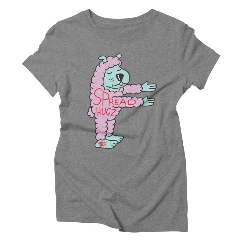 Spread Hugz Women's Triblend T-Shirt by Jeremyville