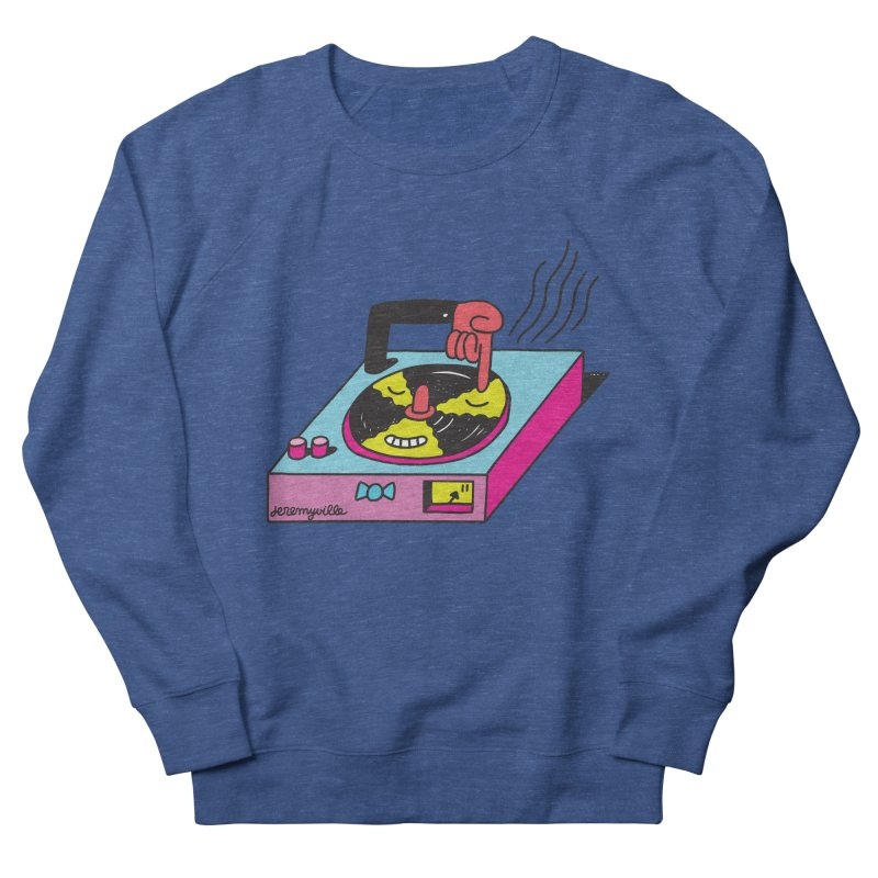 Turntable Women's French Terry Sweatshirt by Jeremyville's Artist Shop