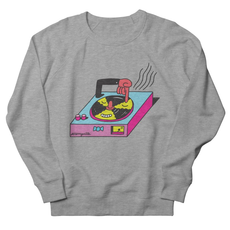 Turntable Men's French Terry Sweatshirt by Jeremyville