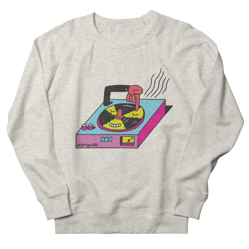 Turntable Men's French Terry Sweatshirt by Jeremyville's Artist Shop
