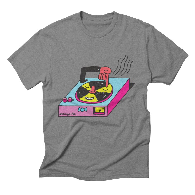 Turntable Men's Triblend T-Shirt by Jeremyville's Artist Shop