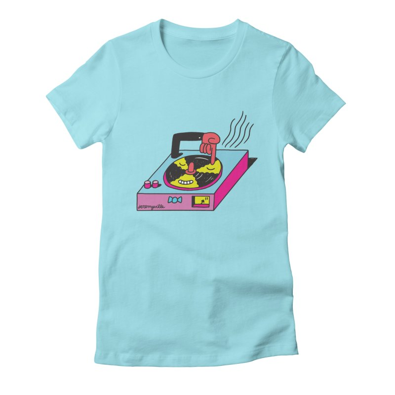 Turntable Women's Fitted T-Shirt by Jeremyville
