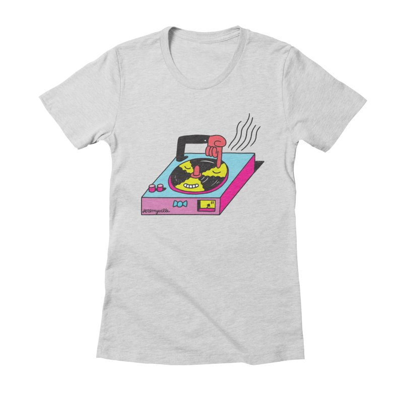 Turntable Women's Fitted T-Shirt by Jeremyville's Artist Shop
