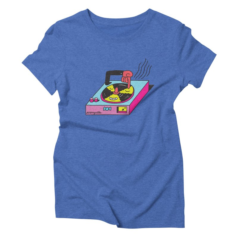 Turntable Women's Triblend T-Shirt by Jeremyville's Artist Shop