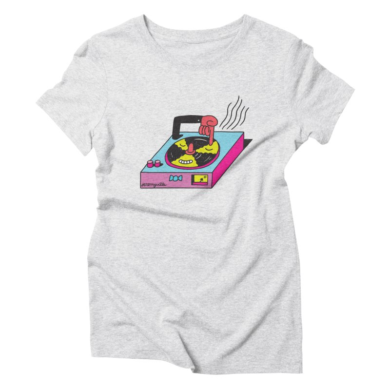 Turntable Women's Triblend T-Shirt by Jeremyville
