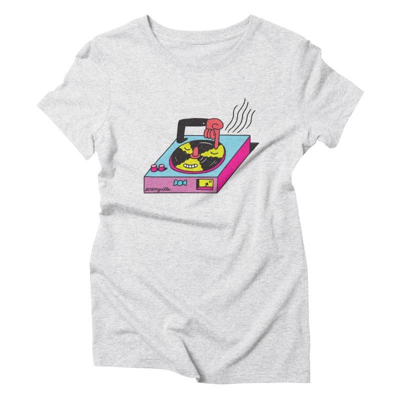 Turntable Women's Triblend T-shirt by Jeremyville's Artist Shop