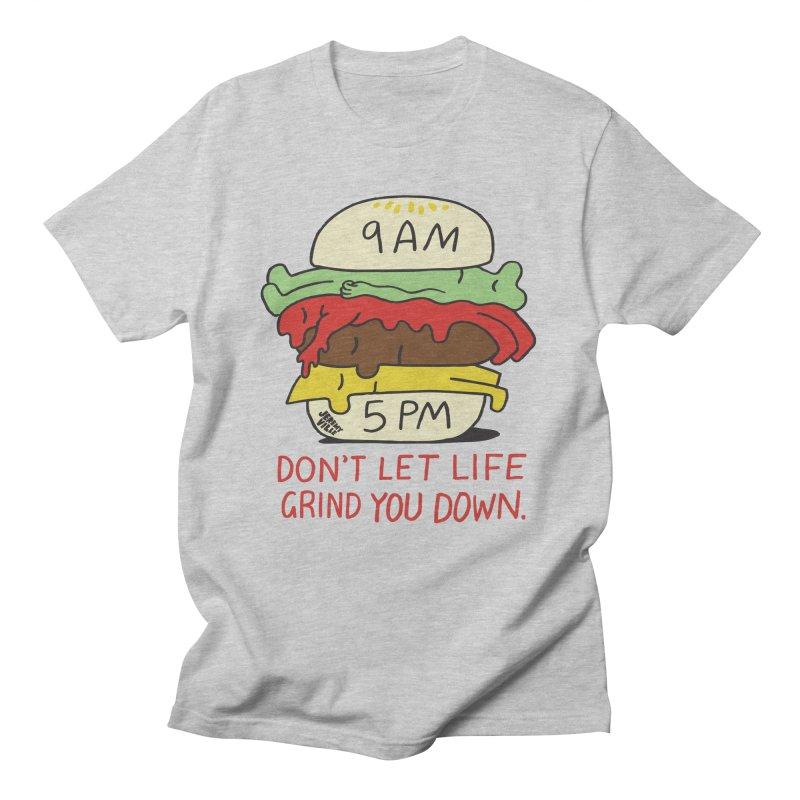 Don't Let Life Grind You Down Men's Regular T-Shirt by Jeremyville