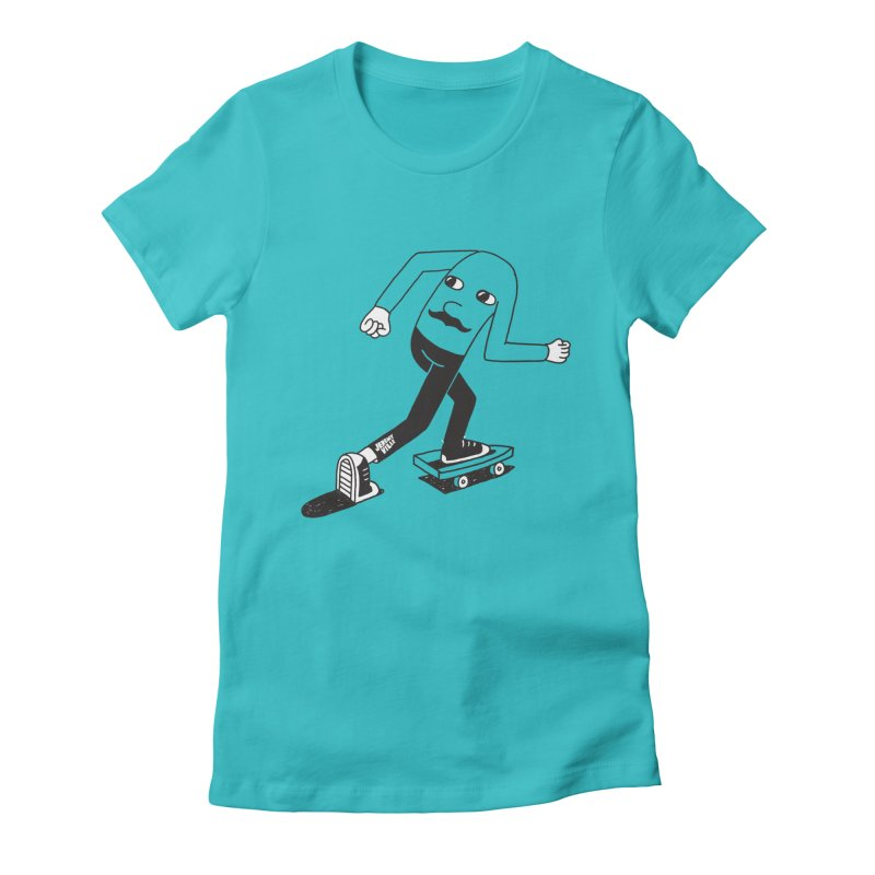 Hindsight Women's Fitted T-Shirt by Jeremyville's Artist Shop