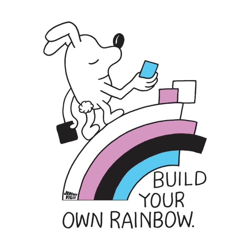 Build Your Own Rainbow None  by Jeremyville's Artist Shop