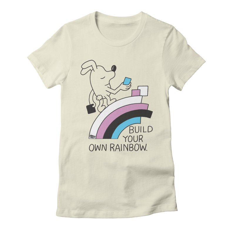 Build Your Own Rainbow Women's Fitted T-Shirt by Jeremyville's Artist Shop
