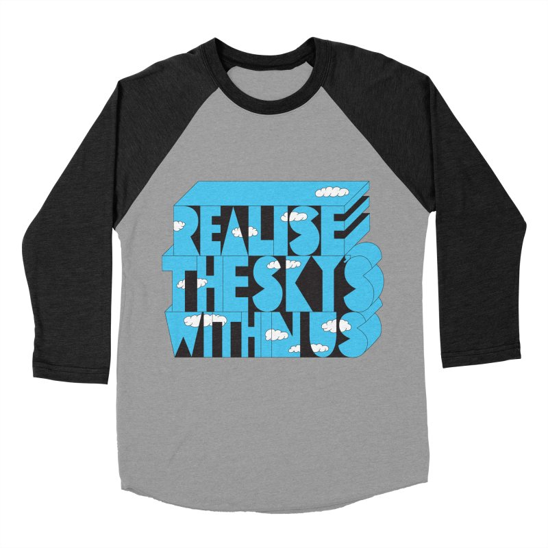 Realise The Sky's Within Us Women's Baseball Triblend Longsleeve T-Shirt by Jeremyville