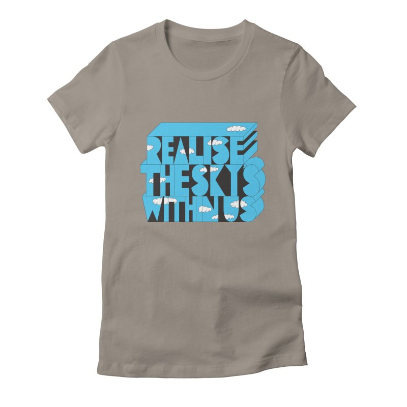 Realise The Sky's Within Us Women's Fitted T-Shirt by Jeremyville