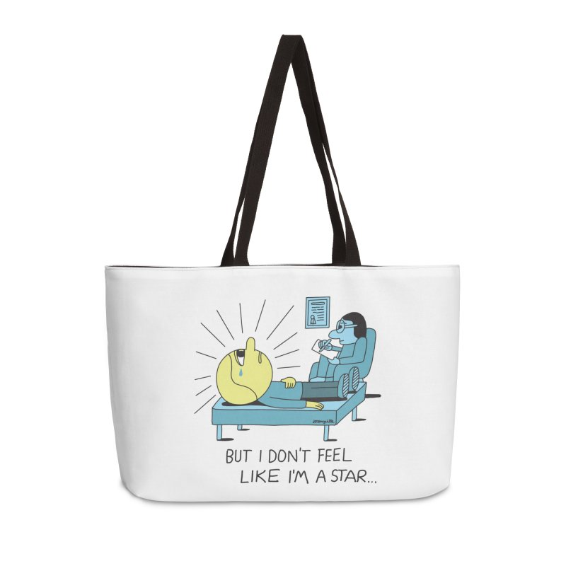 But I Don't Feel Like I'm a Star Accessories Weekender Bag Bag by Jeremyville