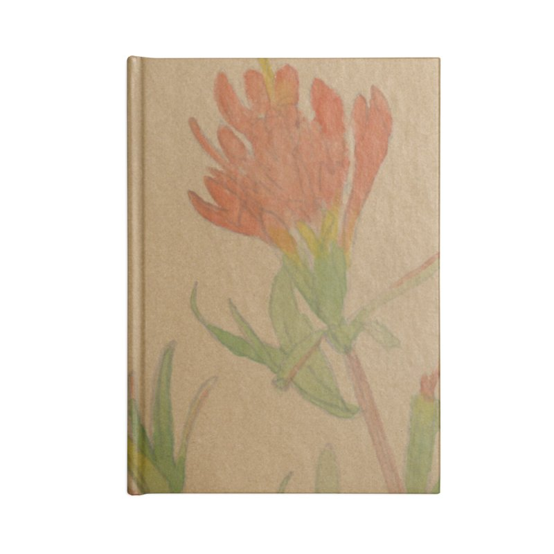 Indian Paintbrush Accessories Lined Journal Notebook by Jess Love