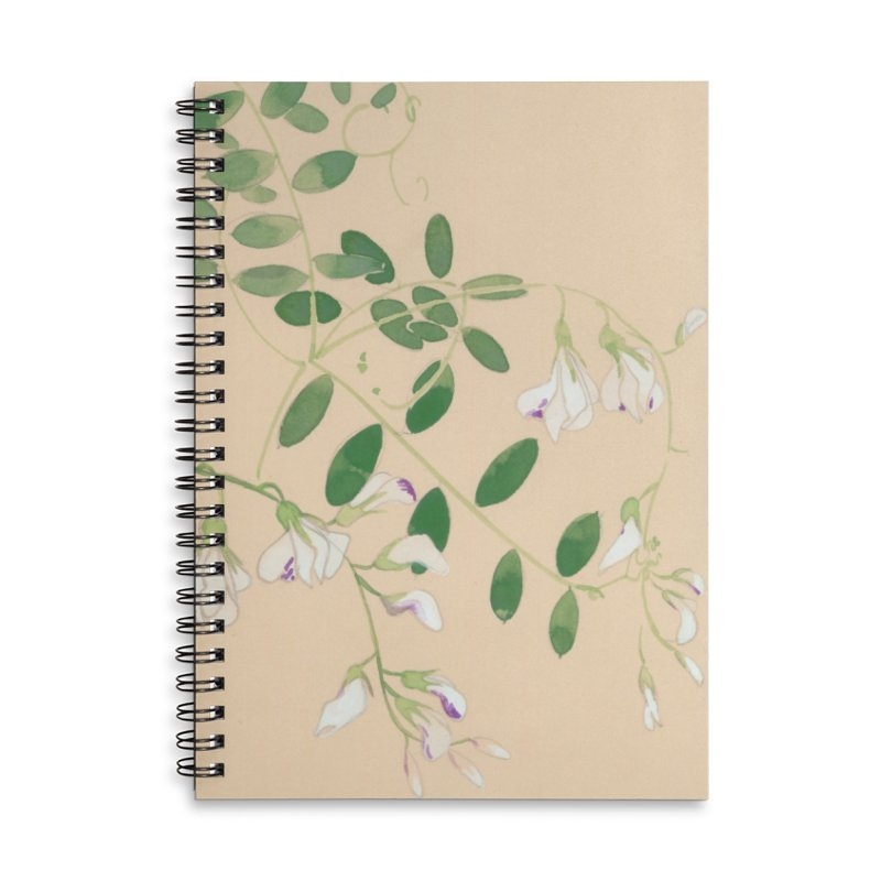 Wild Sweet Peas Accessories Lined Spiral Notebook by Jess Love