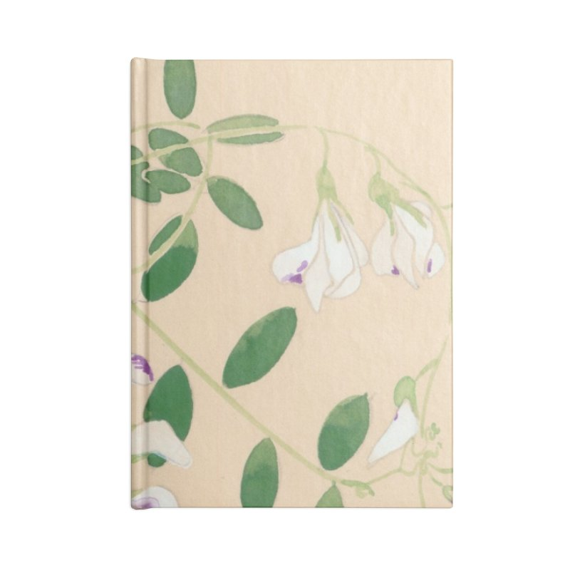 Wild Sweet Peas Accessories Lined Journal Notebook by Jess Love