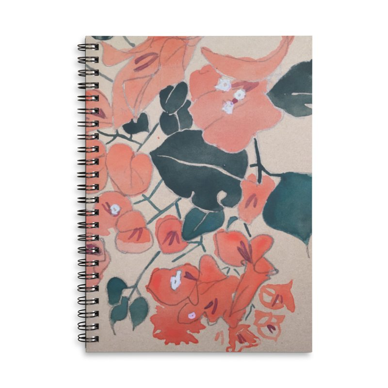 Bougainvillea Accessories Lined Spiral Notebook by Jess Love