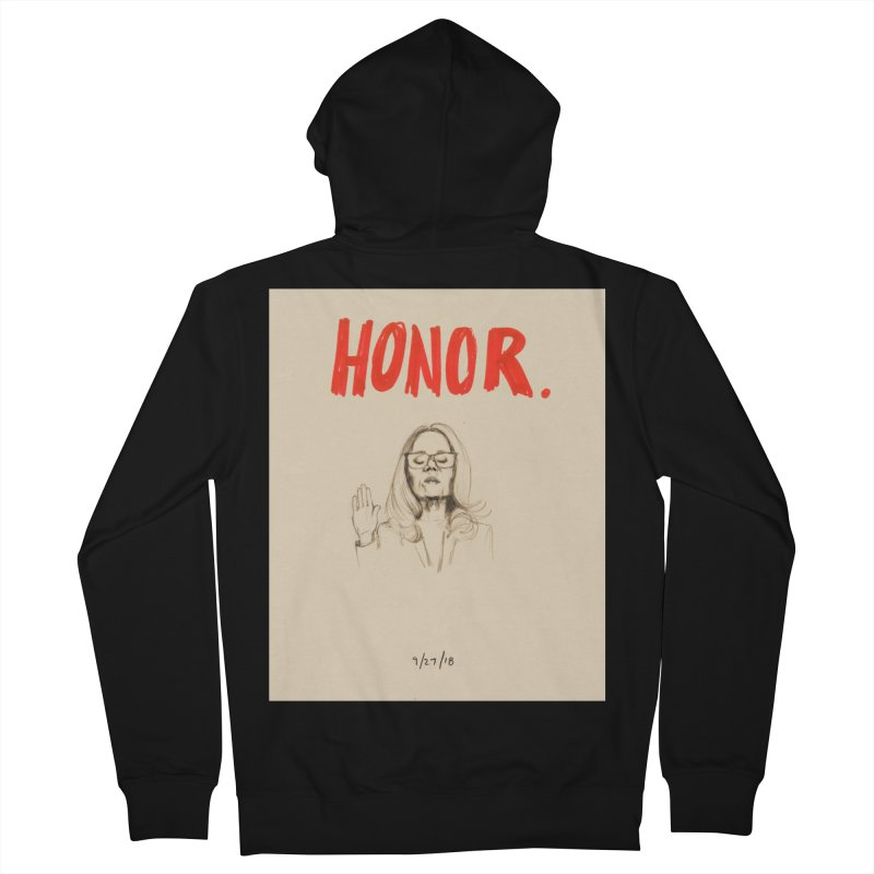 HONOR Men's Zip-Up Hoody by Jess Love