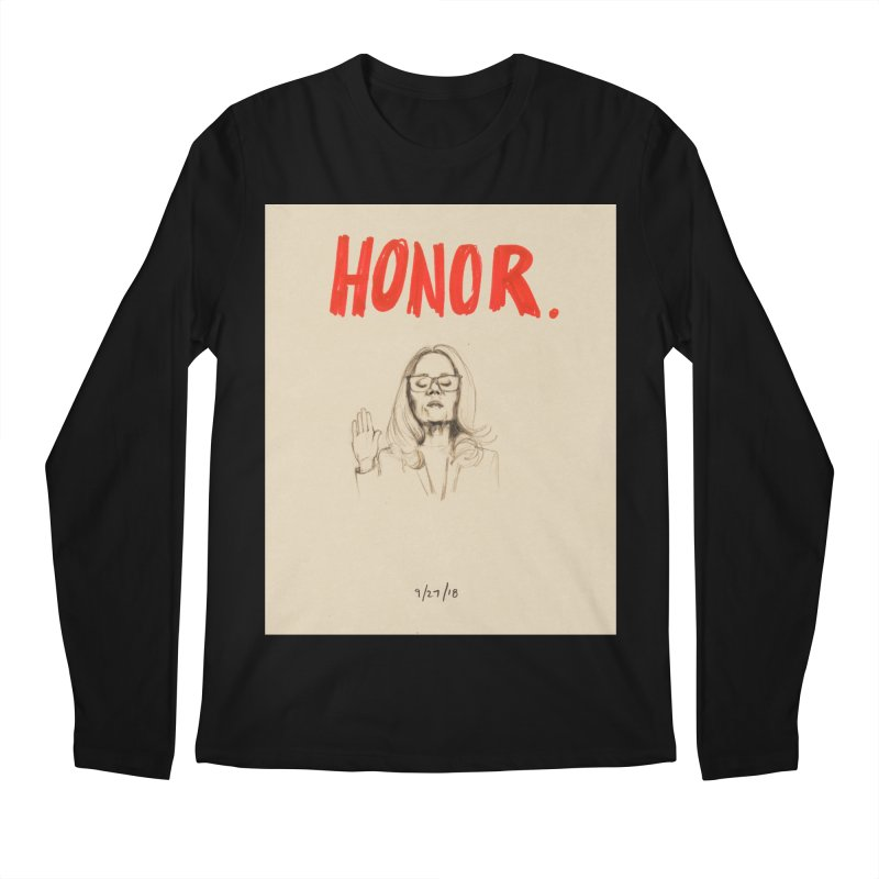 HONOR Men's Regular Longsleeve T-Shirt by Jess Love