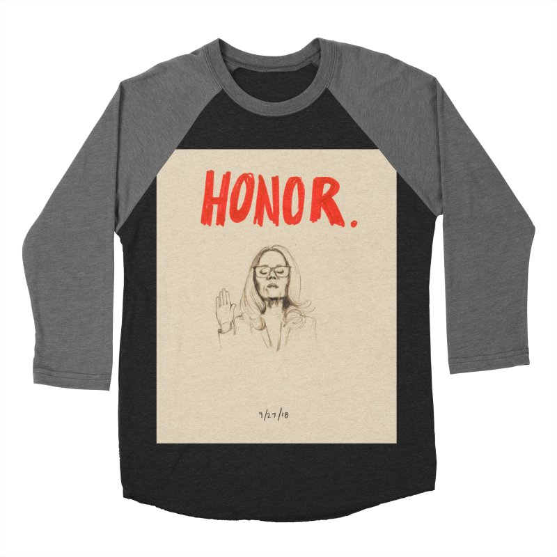 HONOR Women's Baseball Triblend Longsleeve T-Shirt by Jess Love