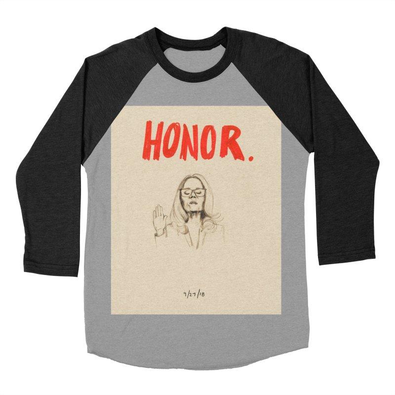 HONOR Men's Baseball Triblend Longsleeve T-Shirt by Jess Love