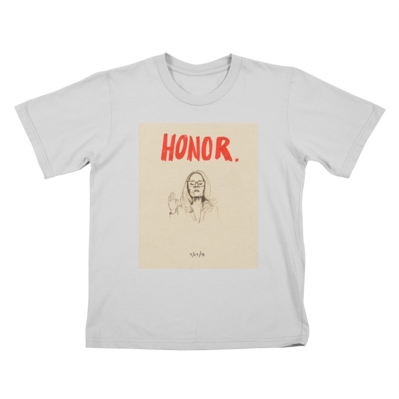 HONOR Kids T-Shirt by Jess Love